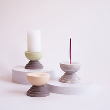 Load image into Gallery viewer, Scala Incense Burner | Apricot + Marble