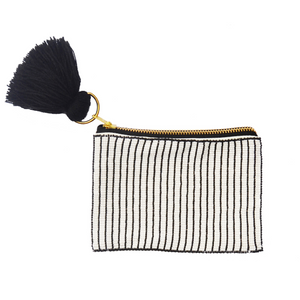 Stripes Beaded Pouch