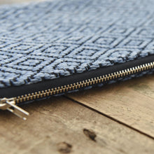 Load image into Gallery viewer, Handwoven Diamond Pouch | Indigo