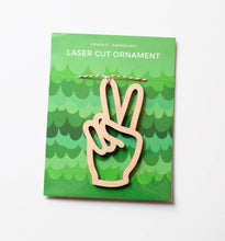 Load image into Gallery viewer, Peace Laser-Cut Ornament
