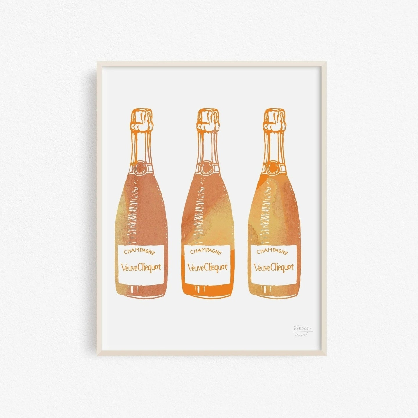 Three Champagne Bottles Art Print