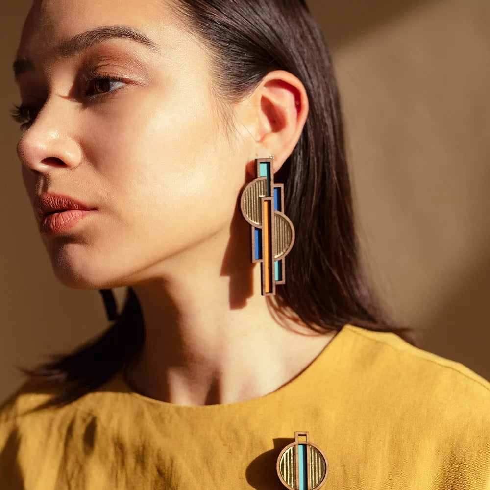 Apollo Earrings | Orange