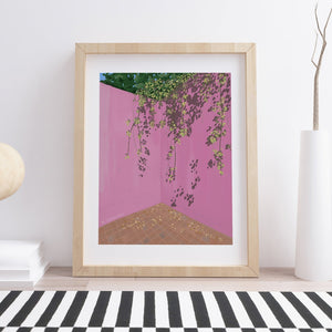 Casa Luis Barragan Pink Wall Art Print