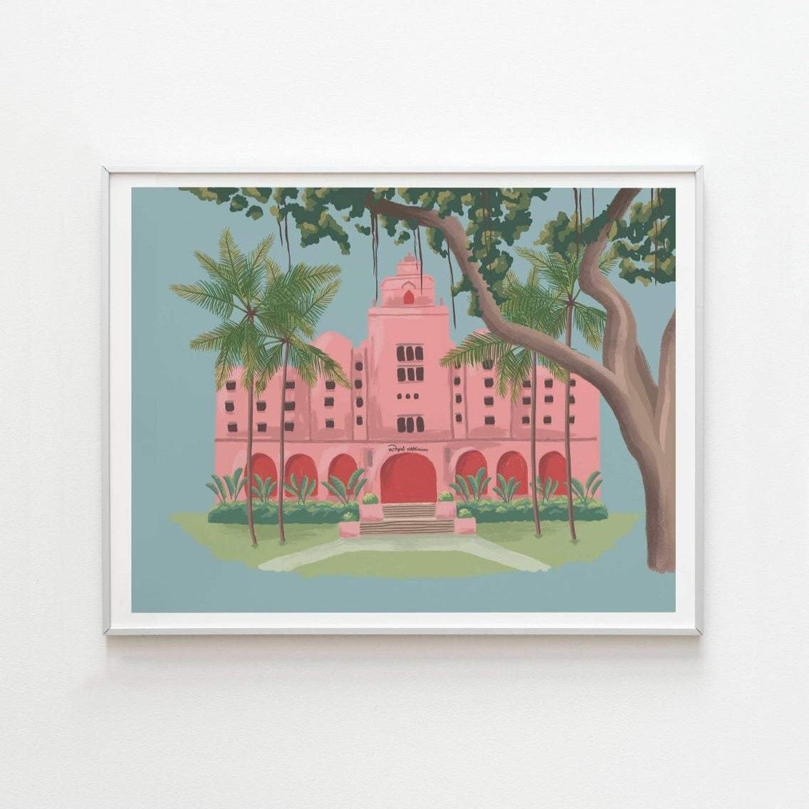 The Royal Hawaiian Pink Hotel Art Print