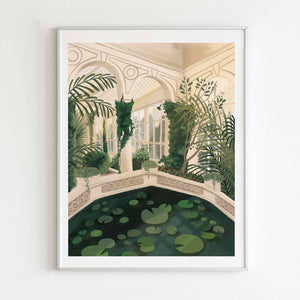 Greenhouse Botanical Garden Art Print