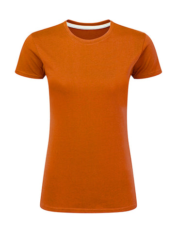 T-Shirt Orange  Personnalisable Femme