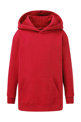 Sweat à capuche Rouge personnalisable Enfant