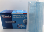 Boite de 50 masques chirugicaux TYPE IIR 99% BLEU MADE IN FRANCE
