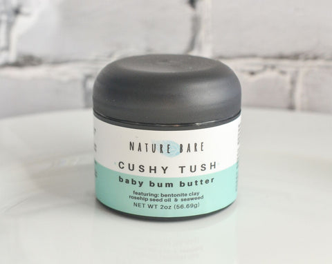 Cushy Tush | Natural Bentonite Clay Based Diaper Rash Cream | 1 & 2 oz