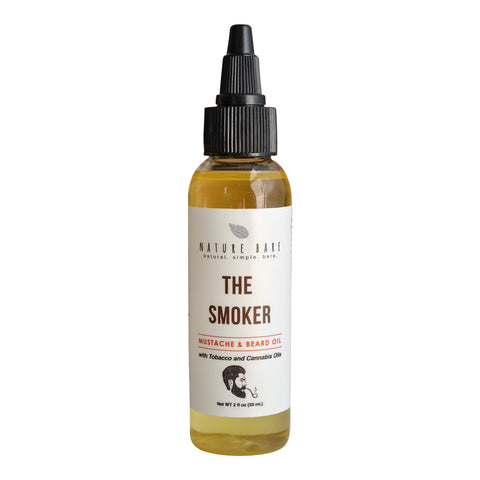 The Smoker | Mustache & Beard Oil - Made with Tobacco and Hemp Oils | 2 & 4oz