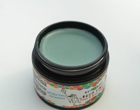 Bare Kids Face and Body Balm - Blue Tansy & Geranium | Hair, Face & Body Moisturizer | 1-4 oz