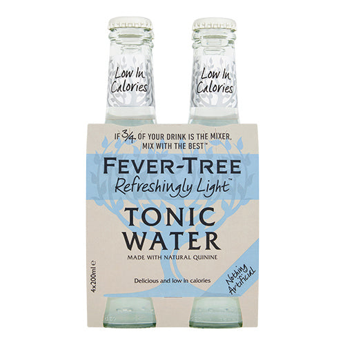 Fever-Tree Refreshingly Light Premium Indian Tonic Water 4x200ml [WHOLE CASE] by Fever-Tree - The Pop Up Deli
