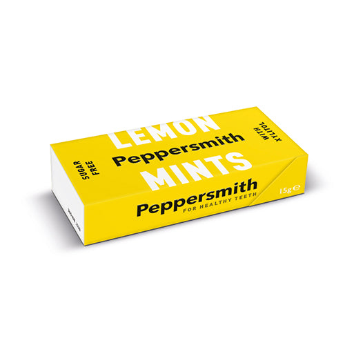 Peppersmith 100% Xylitol Lemon Mints 15g [WHOLE CASE] by Peppersmith - The Pop Up Deli