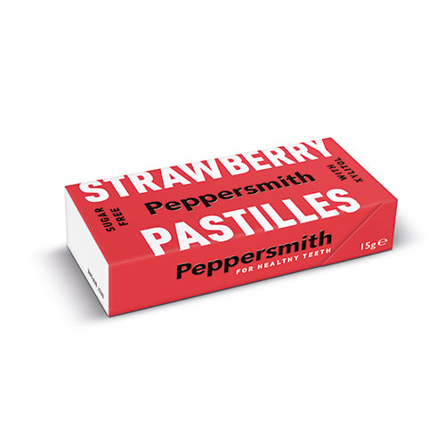 Peppersmith 100% Xylitol Strawberry Pastilles 15g [WHOLE CASE] by Peppersmith - The Pop Up Deli