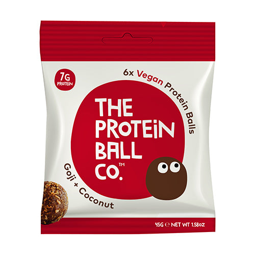 The Protein Ball Co - Goji & Coconut Protein Ball 45g Bag [WHOLE CASE] by The Protein Ball Co - The Pop Up Deli