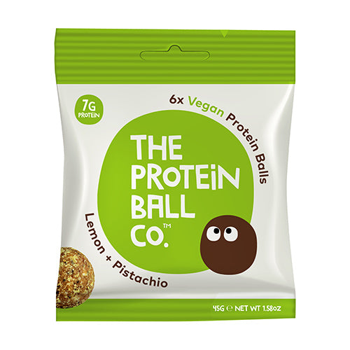 The Protein Ball Co - Lemon & Pistachio Protein Ball 45g Bag [WHOLE CASE] by The Protein Ball Co - The Pop Up Deli