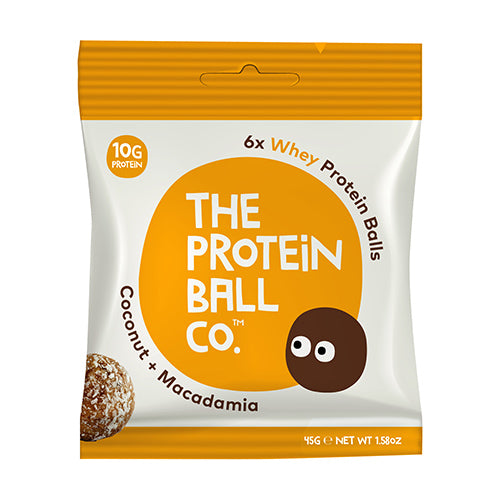 The Protein Ball Co - Coconut & Macadamia Protein Ball 45g Bag [WHOLE CASE] by The Protein Ball Co - The Pop Up Deli