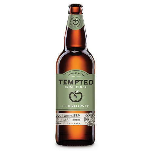 Tempted Elderflower Cider 500ml [WHOLE CASE] by Tempted Irish Cider - The Pop Up Deli