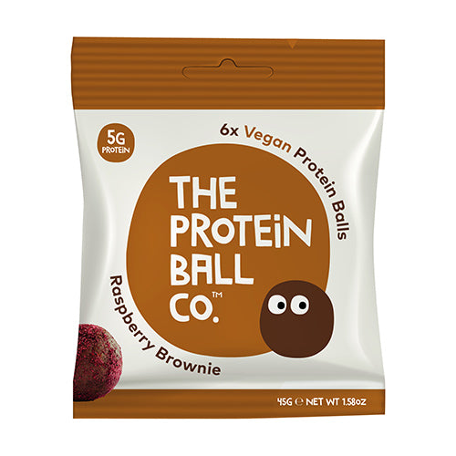 The Protein Ball Co - Raspberry Brownie Protein Ball 45g Bag [WHOLE CASE] by The Protein Ball Co - The Pop Up Deli