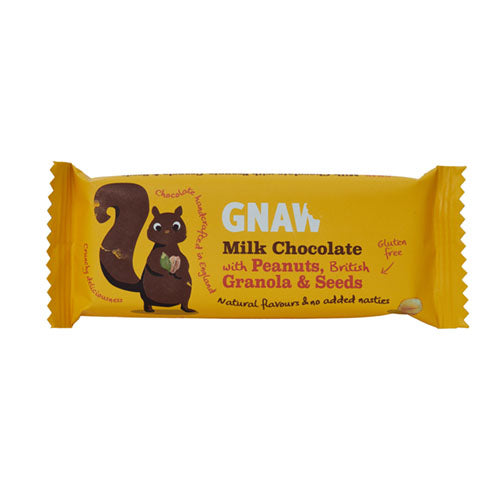 Gnaw Milk Chocolate with Peanuts, Granola & Seed Impulse Bar [WHOLE CASE] by Gnaw Chocolate - The Pop Up Deli
