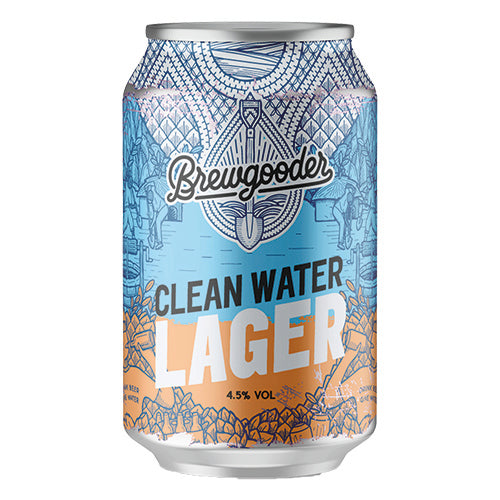 Brewgooder Clean Water Lager 4.5% 330ml Can [WHOLE CASE] by Brewgooder - The Pop Up Deli