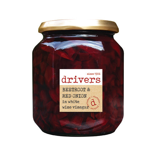 Drivers Beetroot And Red Onion In White Wine Vinegar [WHOLE CASE] by Drivers - The Pop Up Deli