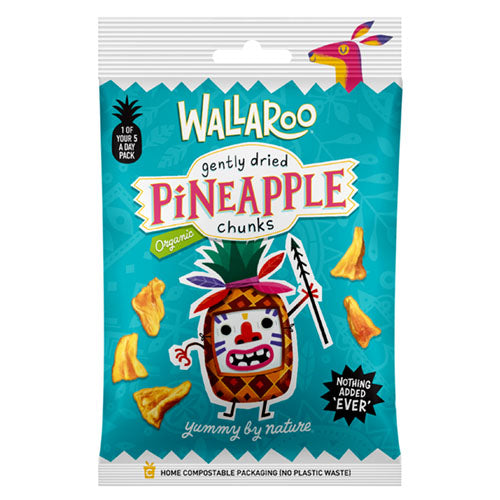 Wallaroo Organic Gently Dried Pineapple Chunks 30g [WHOLE CASE] by WALLAROO - The Pop Up Deli