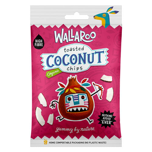 Wallaroo Organic Toasted Organic Coconut Chips 30g [WHOLE CASE] by WALLAROO - The Pop Up Deli
