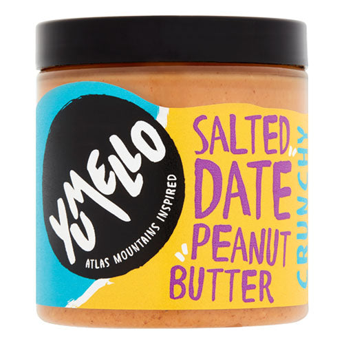 Yumello Crunchy Salted Date Peanut Butter 250g Jar [WHOLE CASE] by Yumello - The Pop Up Deli