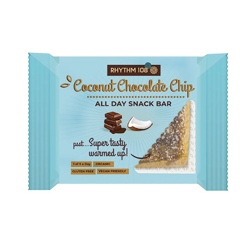 RHYTHM108 All-Day Snack Bar - Coconut Choc Chip 40g [WHOLE CASE] by RHYTHM108 - The Pop Up Deli