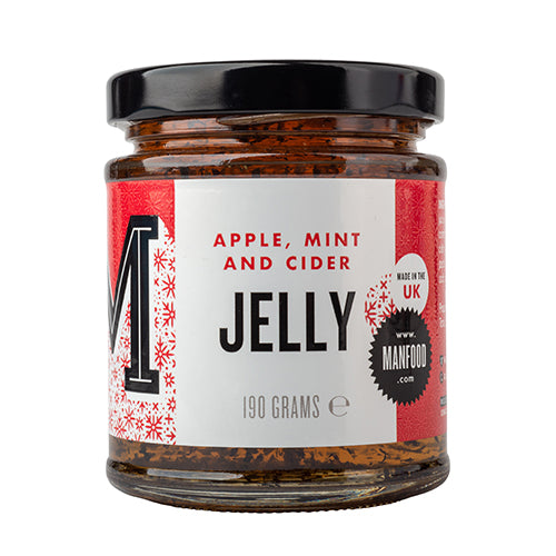 Manfood Apple, Cider & Mint Jelly 190g [WHOLE CASE] by Manfood - The Pop Up Deli