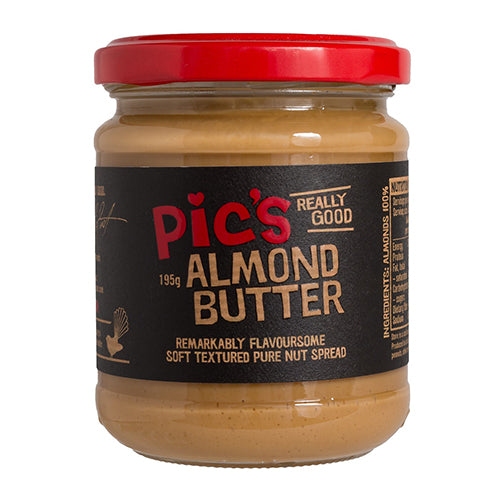 Pic's Almond Butter 195g [WHOLE CASE] by Pic's Peanut Butter - The Pop Up Deli