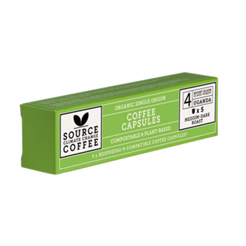 Source Climate Change Coffee: 5 Compostable Capsules Uganda Mount Elgon Cloud Forest Box [WHOLE CASE] by Source Climate Change Coffee - The Pop Up Deli