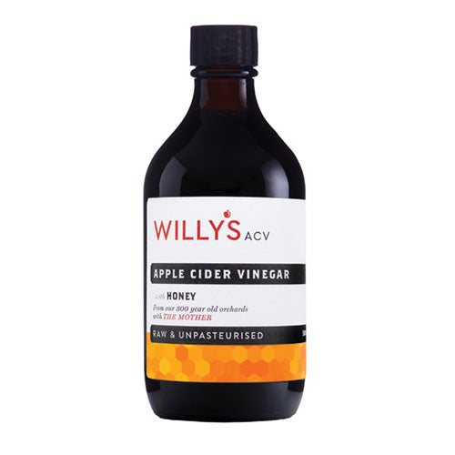Willy's Apple Cider Vinegar with Honey 500ml [WHOLE CASE] by Willy's Ltd - The Pop Up Deli