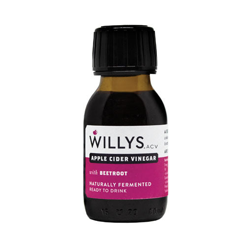 Willy's Apple Cider Vinegar with Beetroot Shot 60ml [WHOLE CASE] by Willy's Ltd - The Pop Up Deli