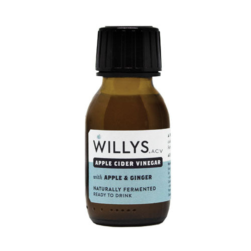 Willy's Apple Cider Vinegar with Apple & Ginger Shot 60ml [WHOLE CASE] by Willy's Ltd - The Pop Up Deli