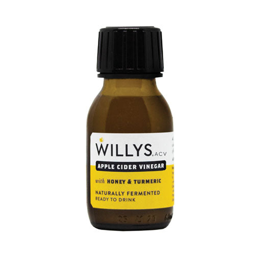 Willy's Apple Cider Vinegar with Honey & Turmeric Shot 60ml [WHOLE CASE] by Willy's Ltd - The Pop Up Deli