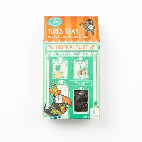 Tom's Teas Tropical Twist Children's Fruit Tea 25g [WHOLE CASE] by Tom's Teas - The Pop Up Deli