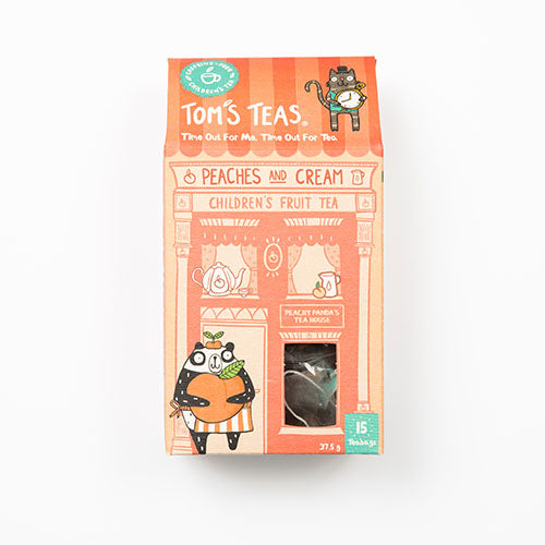 Tom's Teas Peaches and Cream Children's Fruit Tea 25g [WHOLE CASE] by Tom's Teas - The Pop Up Deli
