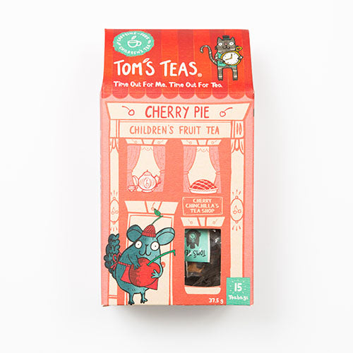 Tom's Teas Cherry Pie Children's Fruit Tea 25g [WHOLE CASE] by Tom's Teas - The Pop Up Deli