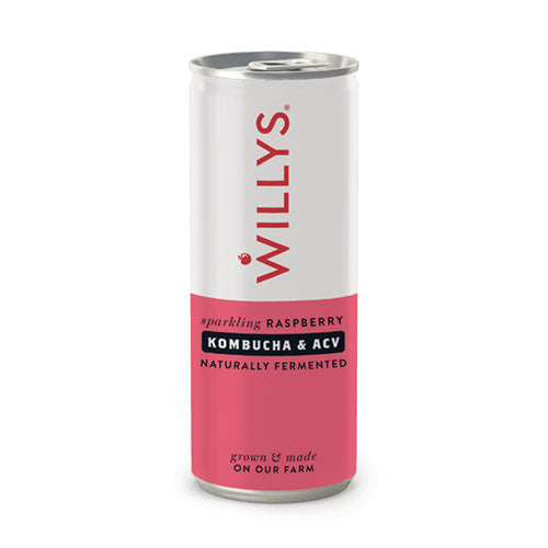 Willy's Sparkiling Raspberry Drink with Kombucha & ACV 250ml [WHOLE CASE] by Willy's Ltd - The Pop Up Deli