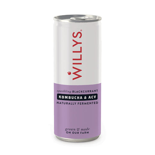 Willy's Sparkiling Blackcurrant Drink with Kombucha & ACV 250ml [WHOLE CASE] by Willy's Ltd - The Pop Up Deli