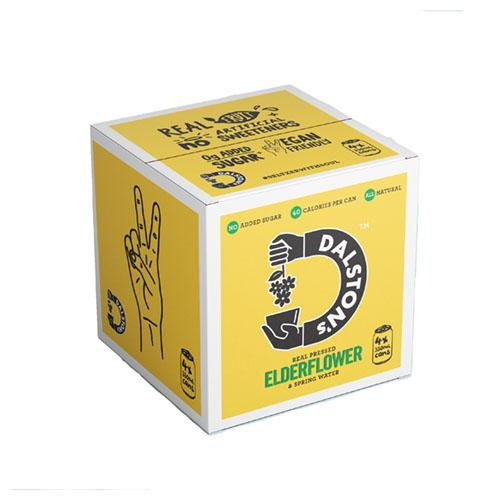 Dalston's Elderflower Seltzer Multipack 330ml Can 4pack [WHOLE CASE] by Dalston's - The Pop Up Deli