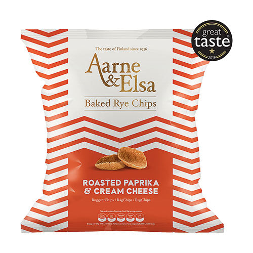 Aarne & Elsa Baked Rye Chips Roasted Paprika & Cream Cheese [WHOLE CASE] by Aarne & Elsa - The Pop Up Deli