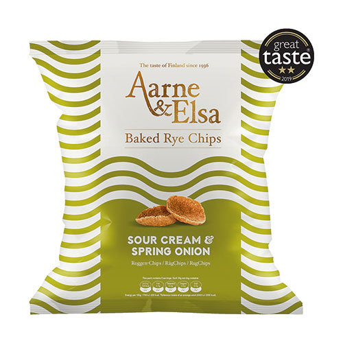 Aarne & Elsa Baked Rye Chips Sour Cream & Spring Onion [WHOLE CASE] by Aarne & Elsa - The Pop Up Deli