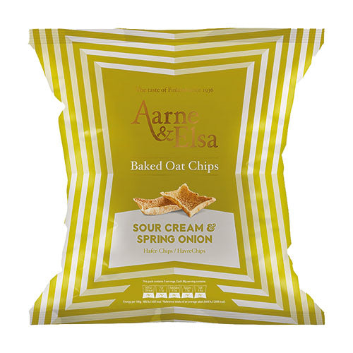 Aarne & Elsa Baked Oat Chips Sour Cream & Spring Onion [WHOLE CASE] by Aarne & Elsa - The Pop Up Deli