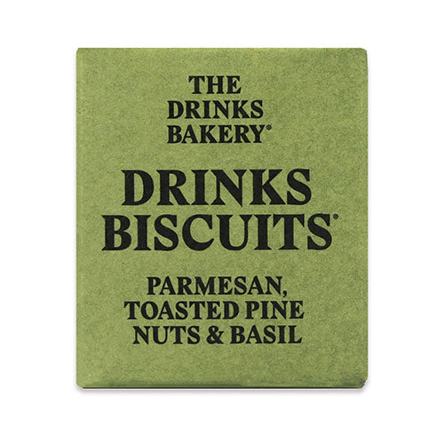 Drinks Biscuits - Parmesan Toasted Pinenut & Basil 20g [WHOLE CASE] by The Drinks Bakery - The Pop Up Deli