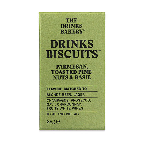 Drinks Biscuits - Parmesan Toasted Pinenut & Basil 36g [WHOLE CASE] by The Drinks Bakery - The Pop Up Deli