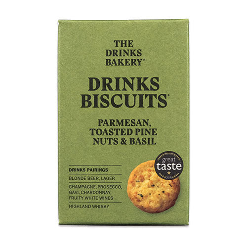 Drinks Biscuits - Parmesan Toasted Pinenut & Basil 110g [WHOLE CASE] by The Drinks Bakery - The Pop Up Deli