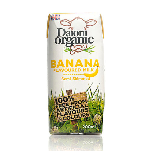 Daioni Organic Banana Flavoured Organic Milk 200ml [WHOLE CASE] by Daioni Organic - The Pop Up Deli